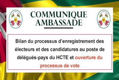 Bilan du processus d'enregistrement des électeurs et des candidatures HCTE - Ouverture du processus électoral